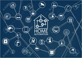 smart home smart home automation vector background connected smart home