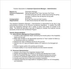 Sample Operations Manager Resume by Operations Manager Job Description Marketing Operations Manager