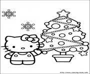 kitty mistletoe stocking christmas coloring pages printable