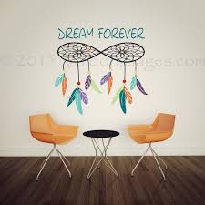 dreamcatcher wall decal dorm room wall decor bedroom wall