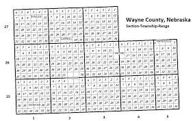 Nebraska County Map Wayne County Ne Map Of Wayne County