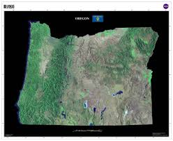 State Of Oregon Map by Oregon Satellite Imagery State Map Poster U2013 Terraprints Com