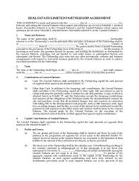 printable sample partnership agreement sample form sample real