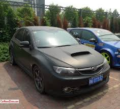 black subaru subaru impreza wrx sti is matte black in china carnewschina com