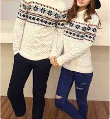 christmas hers his and hers matching christmas sweaters on the hunt