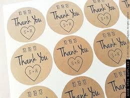wedding favor labels 160 custom initials wedding jar favor labels thank you