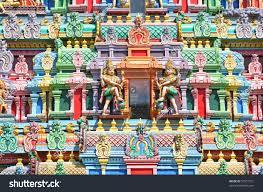 Hindu Temple Floor Plan by Colorful Designs On Facade Hindu Temple Stock Photo 51057721