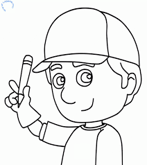 handy manny coloring kids coloring