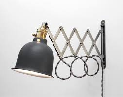 Wall Mount Sconce Scissor Lamp Articulating Adjustable Brass Swing Sconce
