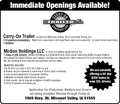 Seeking Trailer Canada Immediate Openings Available Carry On Trailer