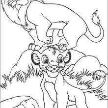 simba mufasa coloring pages hellokids