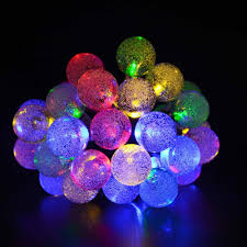 Solar Powered Outdoor Fairy Lights by Solar Outdoor String Lights Multi Color Crystal Ball Solar Powered