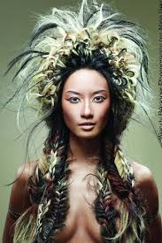 native american hairstyles for women large native american inspired style with fishtail braids i like