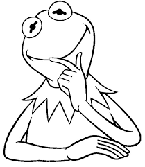 kermit frog thinking coloring pages kermit frog thinking