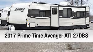 avenger rv floor plans 2017 prime time avenger ati 27dbs travel trailer youtube