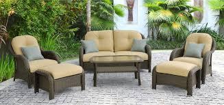 Newport Patio Furniture by Hanover Newport 6 Piece Wicker Outdoor Conversation Set