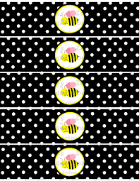 bumble bee decorations bumble bee theme black printable party package on storenvy