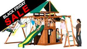 swing sets black friday deals backyard discovery playset meridian cedar swing set 65009 on