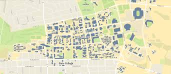 Michigan State Campus Map Penn States Map W Va State Map University Of Michigan Nittany