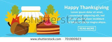 thanksgiving day infographic banner concept simple stock vector