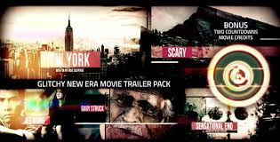 glitchy new era movie trailer pack by signs09 videohive