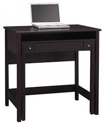 Small Espresso Desk Intereting Computer Desks For Small Spaces Solid Wood Construction