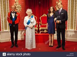 england london madame tussauds waxwork display of members of