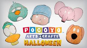Halloween Arts Crafts by Pocoyo Arts U0026 Crafts Halloween Masks Ep 4 Youtube
