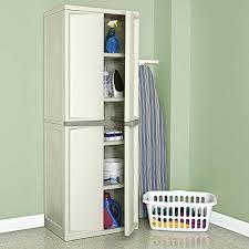 plastic storage cabinet sliding door rubbermaid garage storage