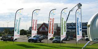 Standing Flag Banners Speedy Signs Signs Banners Vehicle Signs Building Signs