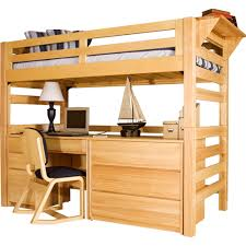 university loft graduate series twin xl open loft bed natural