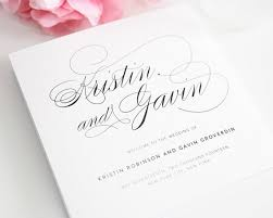 classic wedding programs script elegance wedding program classic wedding program