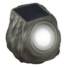Home Depot Outdoor Solar Lights Duracell Solar Powered Green Rock Outdoor Spot Light G3152b P3 Gn