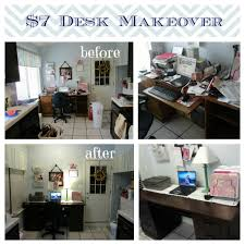 time to clean up your desk plus diy furniture spray painting