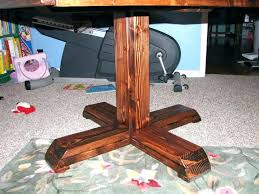 how to build a table base pedestal bar table pub table base how to build a farmhouse pedestal