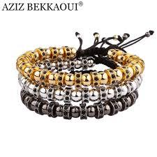 bracelet with beads images 2017 anil arjandas hematite stone beads bracelet with crystal jpg