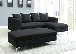 Leather Sectional With Chaise And Ottoman Black Microfiber Small Sectional Sofa With Reversible Chaise