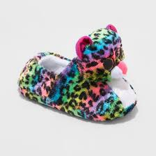 girls u0027 ty beanie boos dotty rainbow leopard slippers target