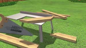 Picnic Table With Benches Plans How To Build A Picnic Table 13 Steps With Pictures Wikihow