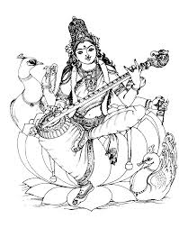 to print this free coloring page coloring india saraswati 1
