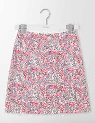 cotton skirt terraza cotton skirt wg704 above knee skirts at boden