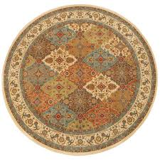 Home Depot Area Carpets Home Decorators Collection Persia Almond Buff 8 Ft X 8 Ft Round