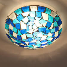 stained glass ceiling light fixtures blue stained glass ceiling light ceiling design ideas