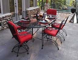 Wrought Iron Mesh Patio Furniture by Meadowcraft Wrought Iron 84 X 42 Oval Regular Mesh Dining Table