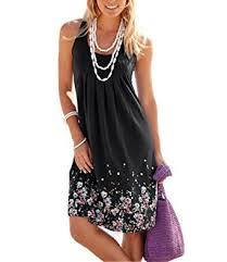 women s dress akery womens summer casual sleeveless mini printed vest dresses at