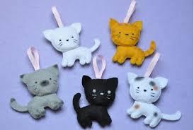 gatinho de feltro 12 feltro pinterest felting cat and craft