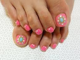 pink toe nail art designs nails we love pinterest nail art