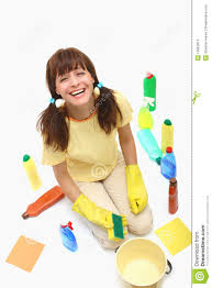 House Cleaning by A Happy House Cleaning Woman Stock Images Image 14955014