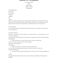 blank resume templates free resume templates resume exles sle cv format in doc