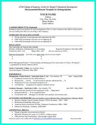 Business Resumes Templates Professional Resume Examples For College Graduates Resume